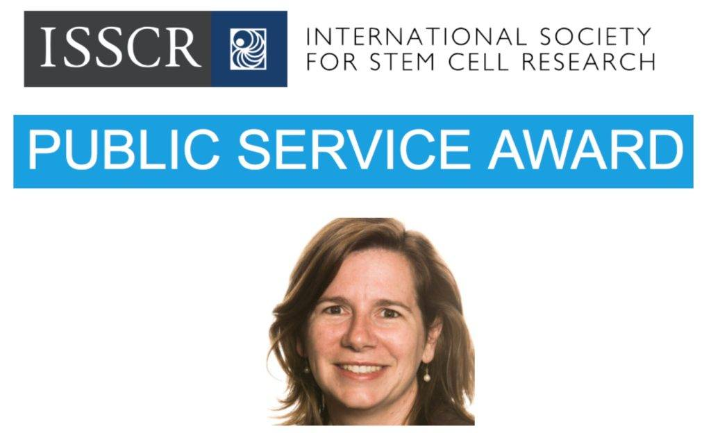 ISSCR awards Megan Munsie the 2018 Public Service Award