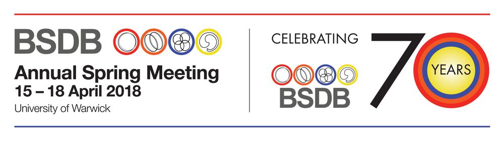 British society for developmental biology (BSDB) 70th anniversary annual spring meeting